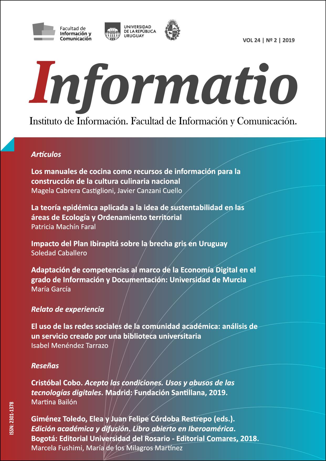 portada volumen 24, número 2 (diciembre 2019)