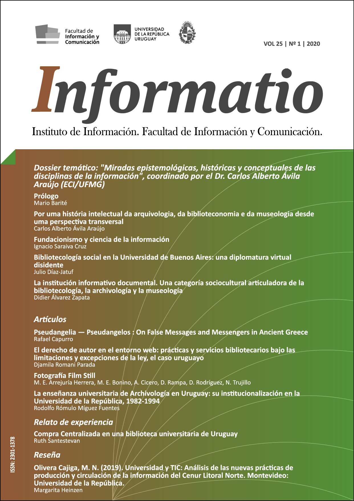 portada volumen 25, número 1 (junio 2020)